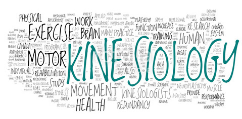 Kinesiology collage of word concepts